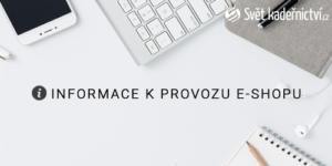 Informace k provozu e-shopu během nouzového stavu